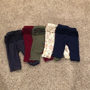 5 pairs of old navy ruffle butt leggings